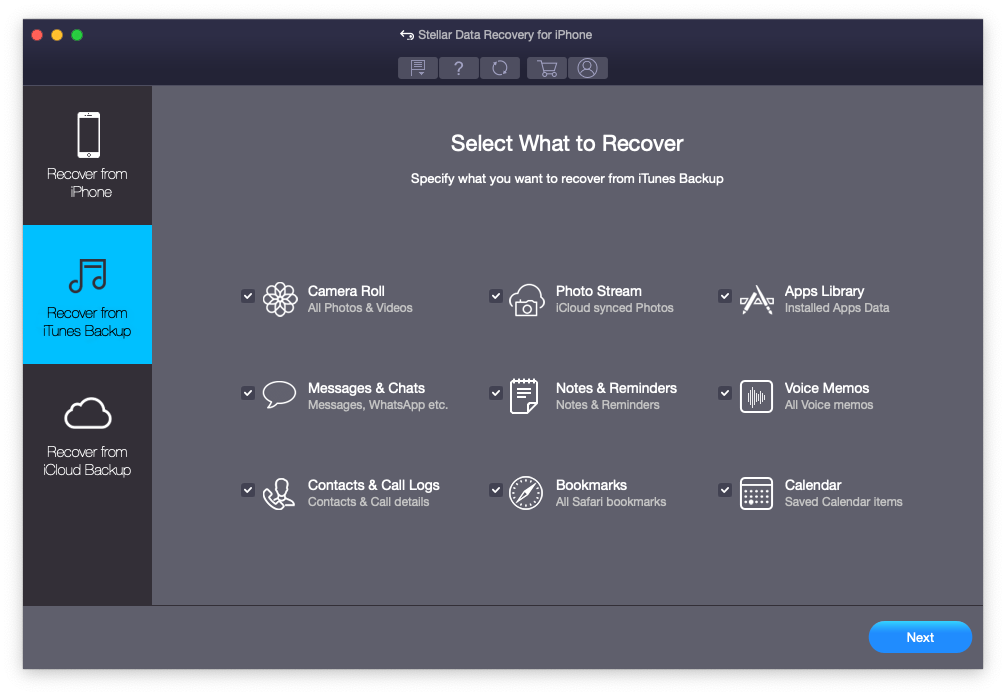 Stellar Data Recovery for iPhone - Mac